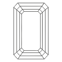emerald cut diamond layout