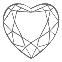 heart shaped diamond layout
