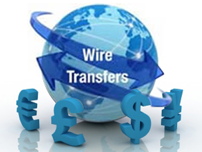 wire transfer paymet option