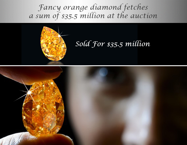Orange Diamond  at Christies Auction