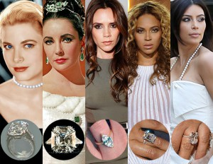 Image result for diamonds celebrity engagement rings