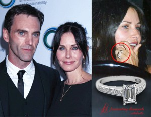 Courteney Cox engagement ring details