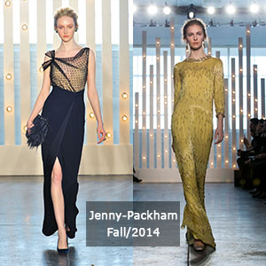 Jenny Packham's collection from NYFW fall 2014