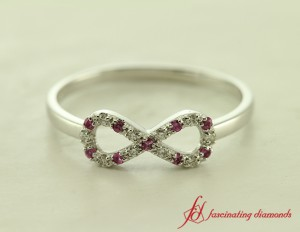 Womens Infinite Style Sapphire Promise Ring