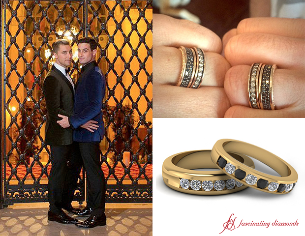 Get The First Look Of Lance Bass And Michael Turchins Matching Wedding Bands