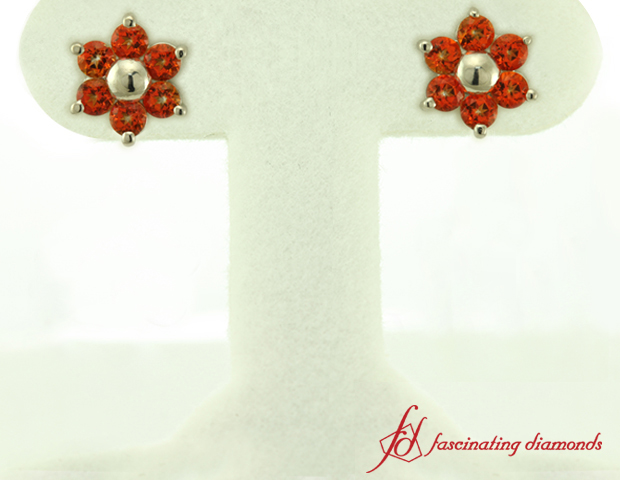 Nature Inspired Orange Topaz Earring