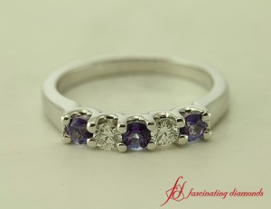 Violet Topaz Wedding Band