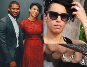 Usher Engaged To Grace Miguel See Her Giant Engagement