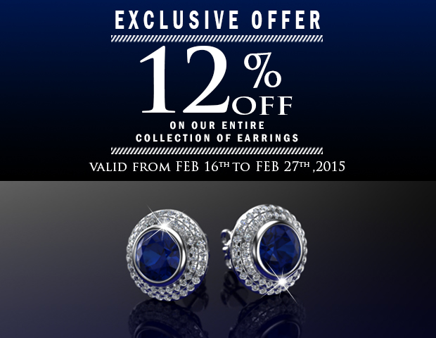 12 Percent Off On Our Entire Collection Of Earrings