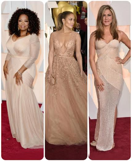 Nude color gowns at Oscars 2015