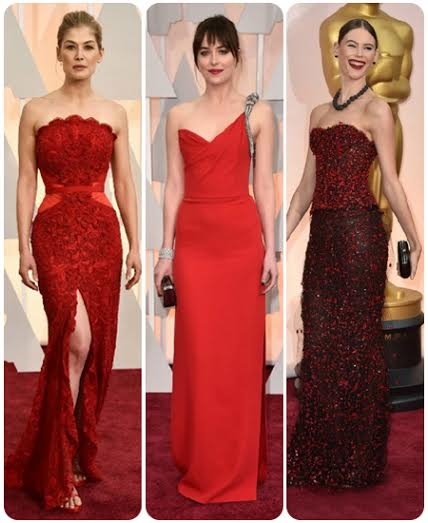Red Gowns at Oscars 2015