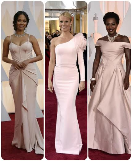 Pink Gowns at Oscars 2015