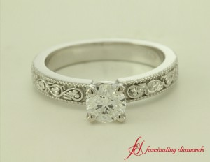Round Cut Diamond Solitaire Ring