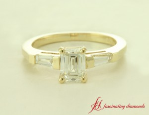 Beautiful Yellow Gold 3 Stone Diamond Ring