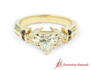 Natural Topaz Engagement Ring Yellow Gold