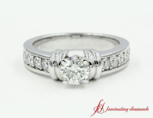 White Gold Round Cut Diamond Ring