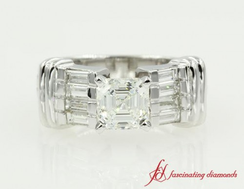 Asscher Cut Diamond Vintage Ring