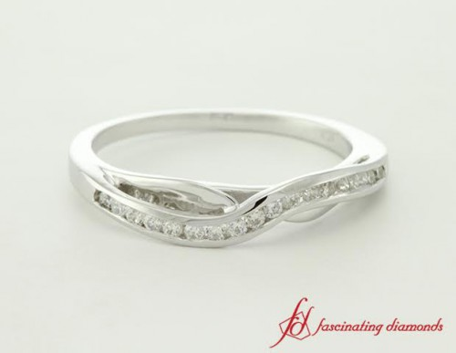 Swirl Diamond Wedding Band