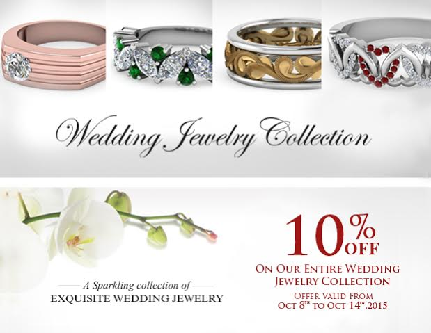 10 Percent Off On Wedding Jewelry Collection