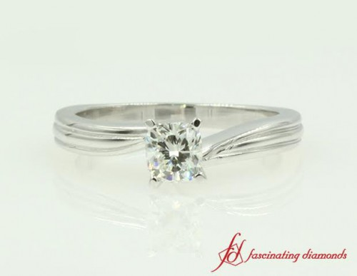 Single Stone Diamond Engagement Ring