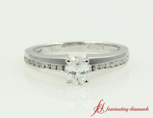 Channel Set Thin Band Diamond Ring