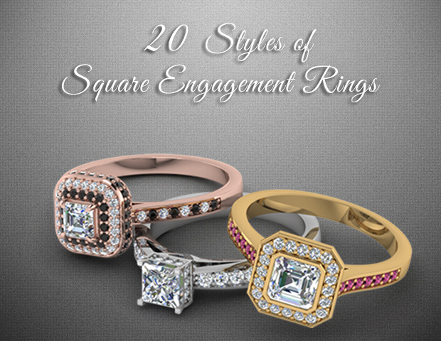 20 Styles Of Square Engagement Rings