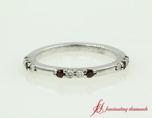 Diamond And Ruby Wedding Band