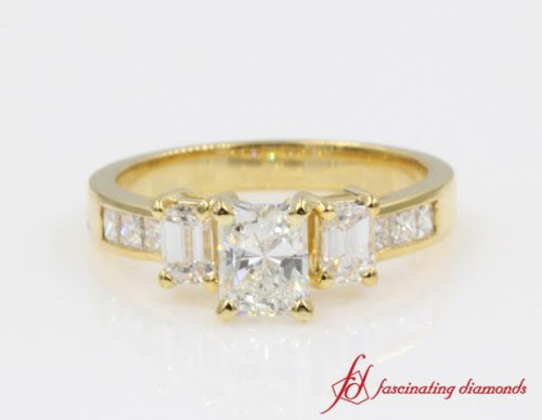 Radiant Cut Diamond 3 Stone Ring