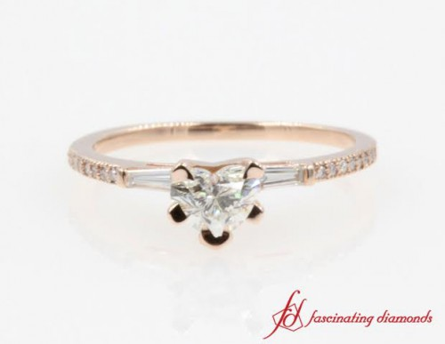 Heart Shaped Delicate Diamond Ring