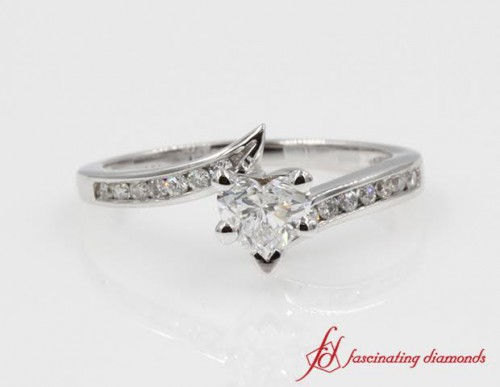 Twisted Heart Shaped Diamond Ring