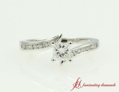 Channel Set Petite Engagement Ring For Ladies
