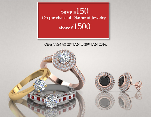Save $150 On Purchase Of diamond Jewelry Above $1500