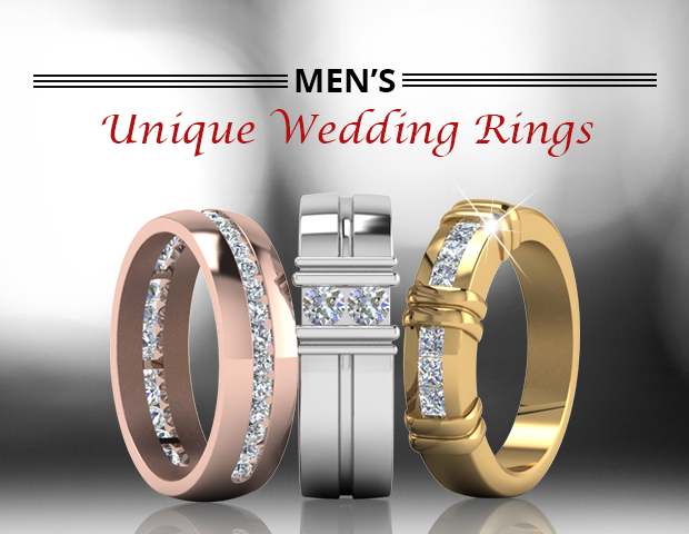 Customized Ruby And Sapphire Mens Wedding Band In White Gold