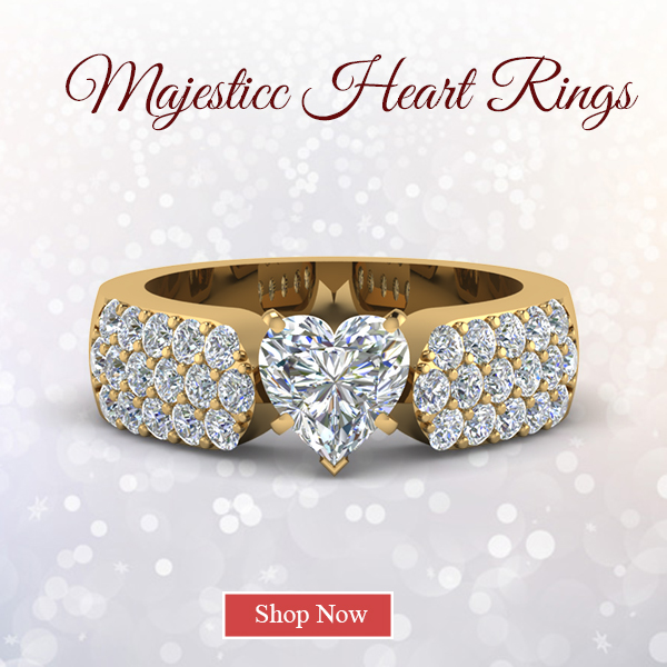 Stunning Heart Rings