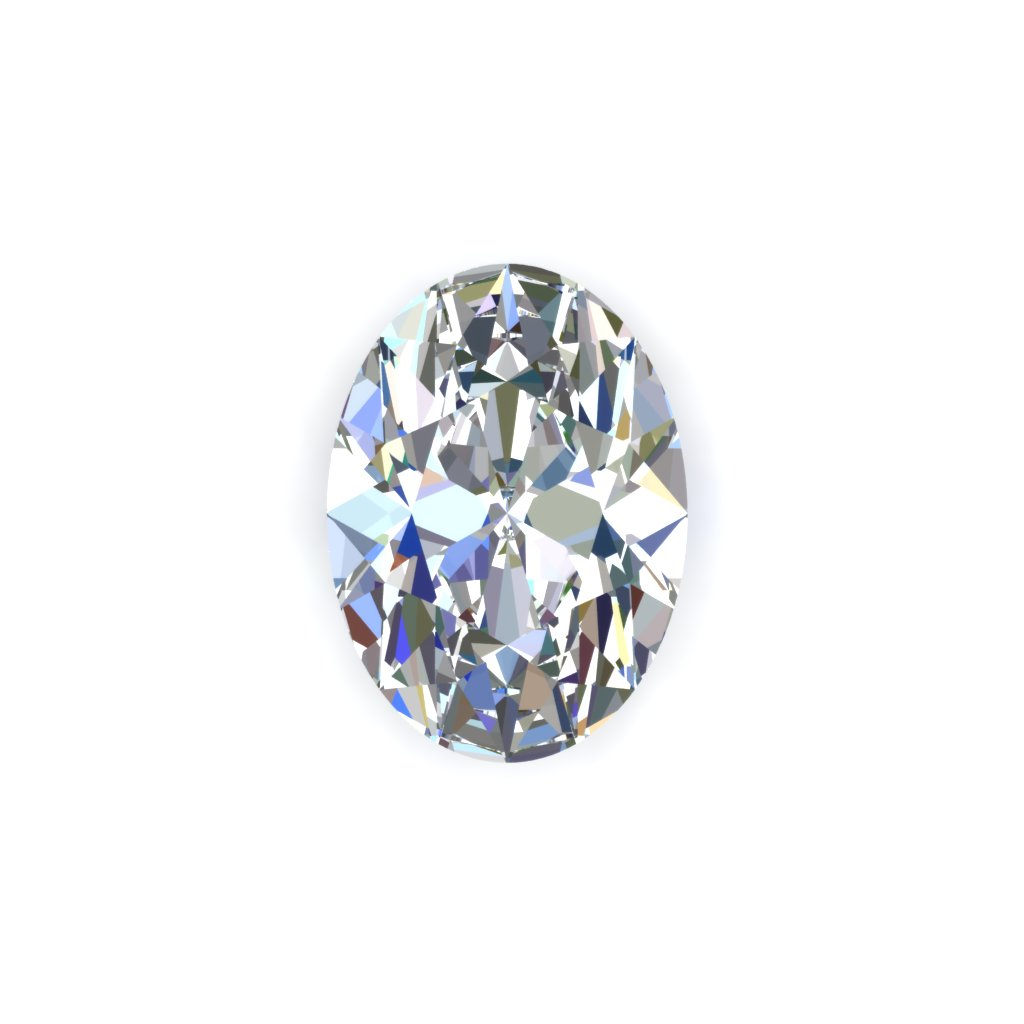 Oval white diamond