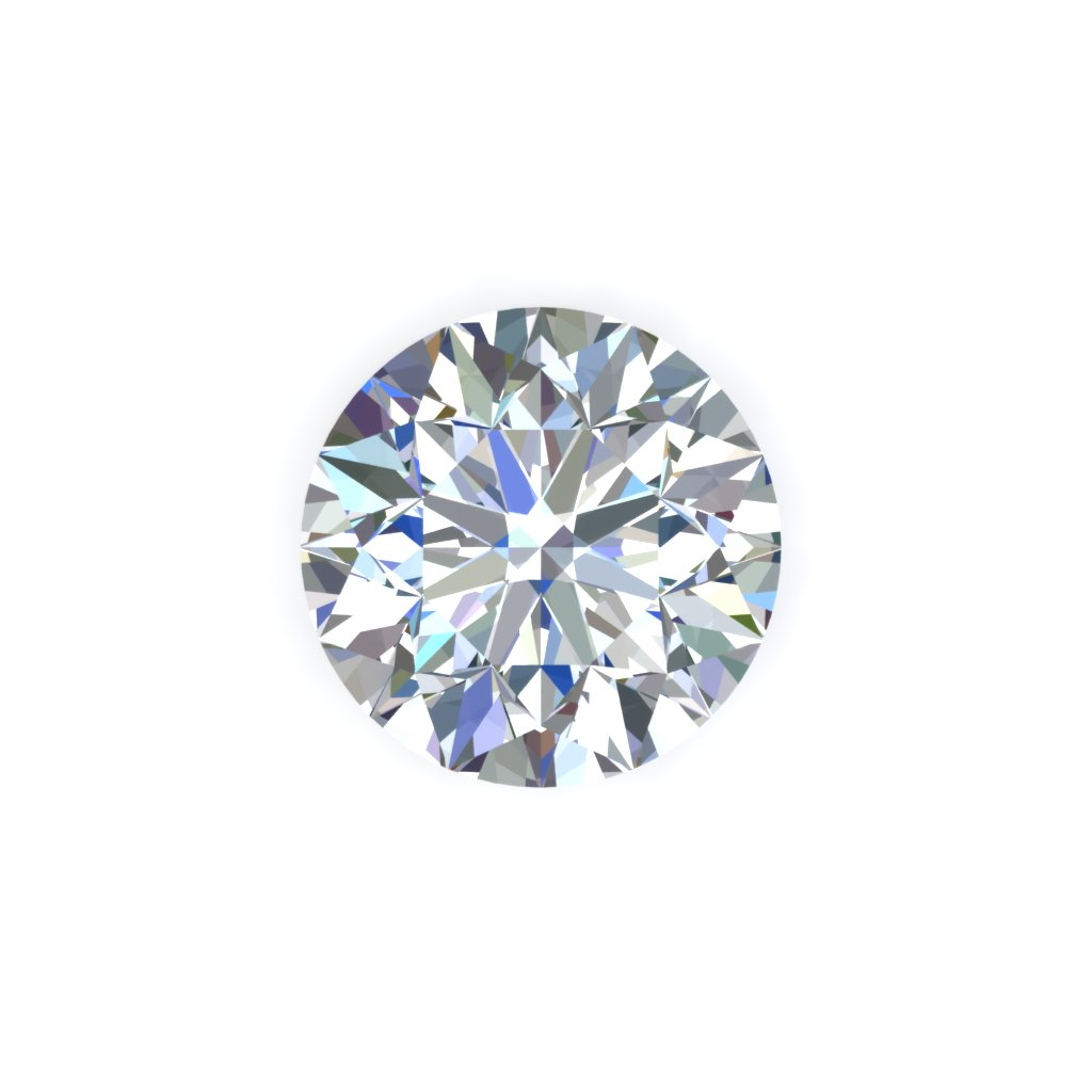 Round white diamond