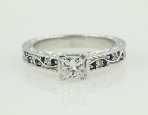 Vintage Princess Cut Diamond Ring