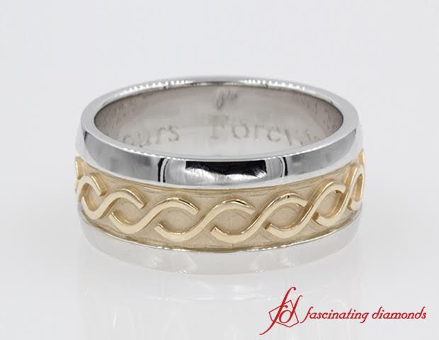 Filigree Two Tone Men Band