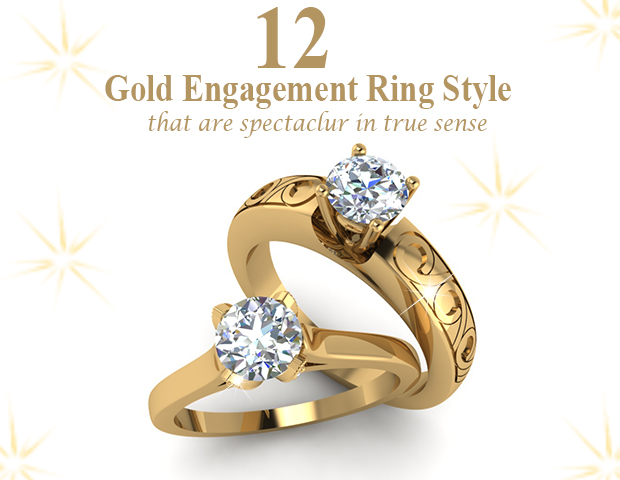 12 Gold Engagement Rings Style