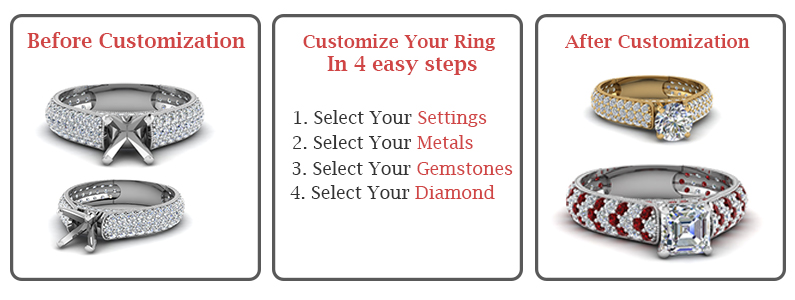 customize your ring in 4 easy steps
