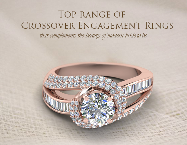 Top Styles Of Diamond Crossover Engagement Rings