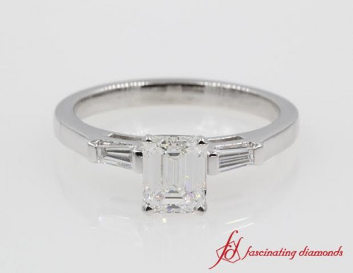 Emerald Cut Diamond 3 Stone Ring