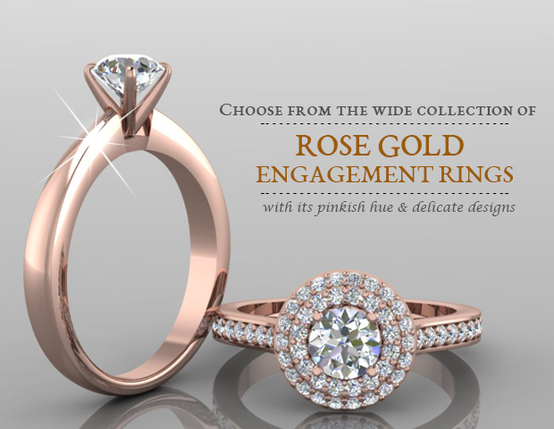 Latest Rose Gold Engagement Rings