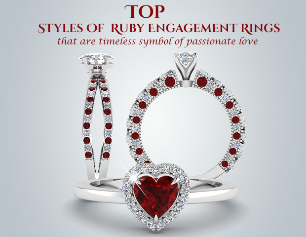 Top Styles Of Ruby Engagement Rings That Are Timeless Symbol Of Passionate Love