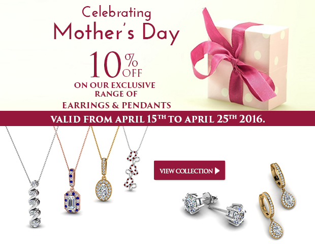 10% Off On The Glorious Range Of Pendants And Earrings