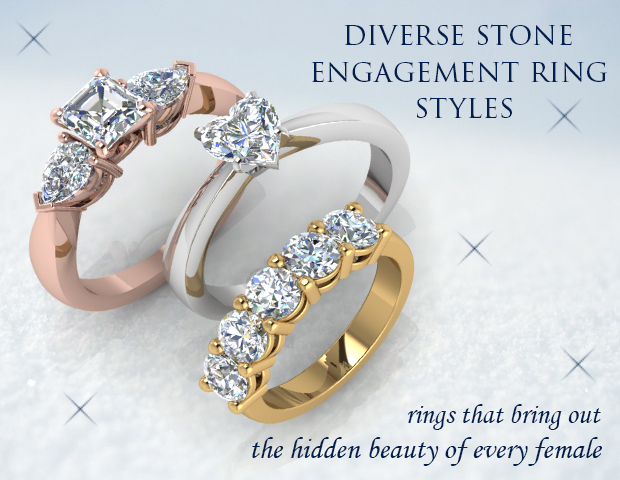 Diverse Stone Engagement Ring Styles