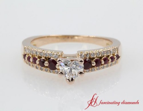 Celebrity Style Diamond And Ruby Ring