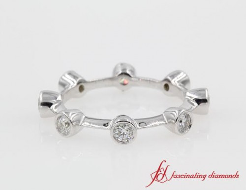 Round Eternity Diamond Anniversary Ring