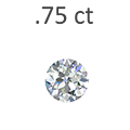 .75 Carat Round Cut Diamond