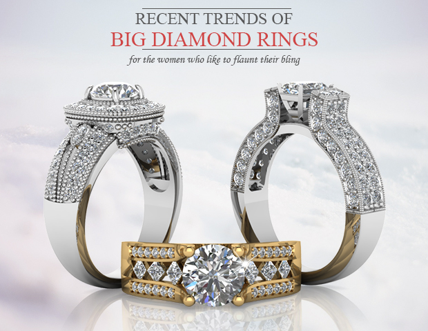 Recent Trend: Big Diamond Rings For The Women